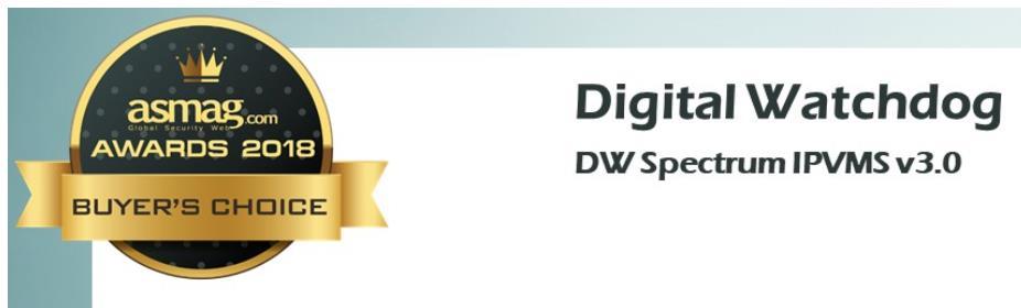 DW Video Management Software Spectrum® IPVMS receives